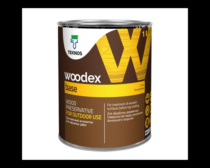 Грунтовка антисептическая TEKNOS WOODEX BASE для древесины 1л