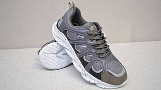 Кросівки з сітки літні Bayota A1927 сірі з білою підошвою