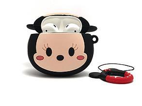 Силиконовый 3D чехол Микки Маус для наушников AirPods 1 и 2 поколения. Soft-touch покрытие., фото 2