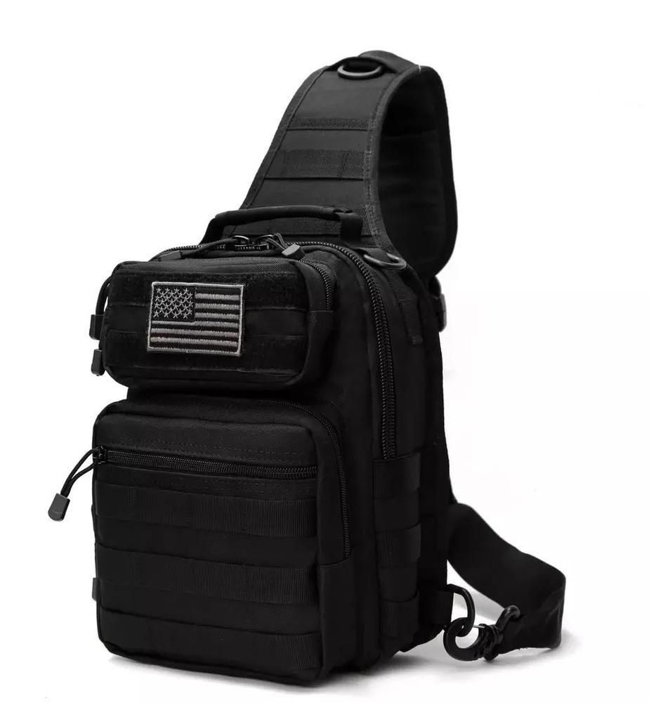 Большая нагрудная сумка D14(черный)
