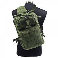 Сумка-рюкзак тактическая военная A92(олива), фото 2