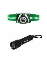Подарочный набор фонарей Led Lenser SEO3 Green+K3