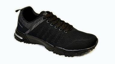 Кроссовки из сетки летние Bayota A019 чёрные, фото 3