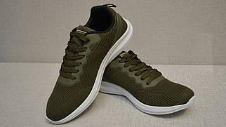 Кросівки літні Bayota A029 зелені з білою підошвою