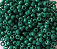 Бисер Preciosa Чехия №53240 50г,  бирюзово-зеленый, натуральный