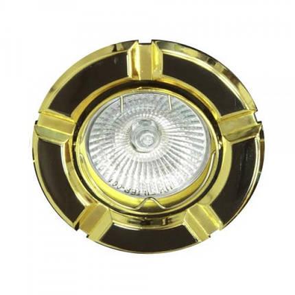 Встраиваемый светильник Feron 098Т MR-16 черный золото, фото 2