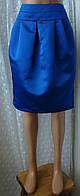 Юбка модная стильная яркая синяя миди бренд F&F р.46, фото 1
