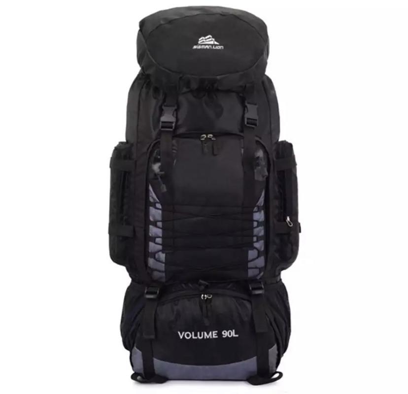 Рюкзак туристический S1907(90л, черный,серый,синий,красный,голубой)