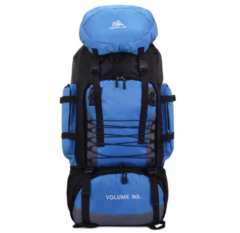 Рюкзак туристический S1907(90л, синий)