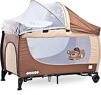 Детская кровать манеж Caretero Grande 2016 Brown, фото 1