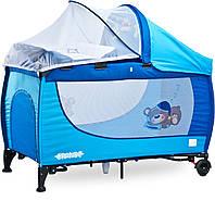 Дитяче ліжко манеж Caretero Grande 2016 Blue, фото 1