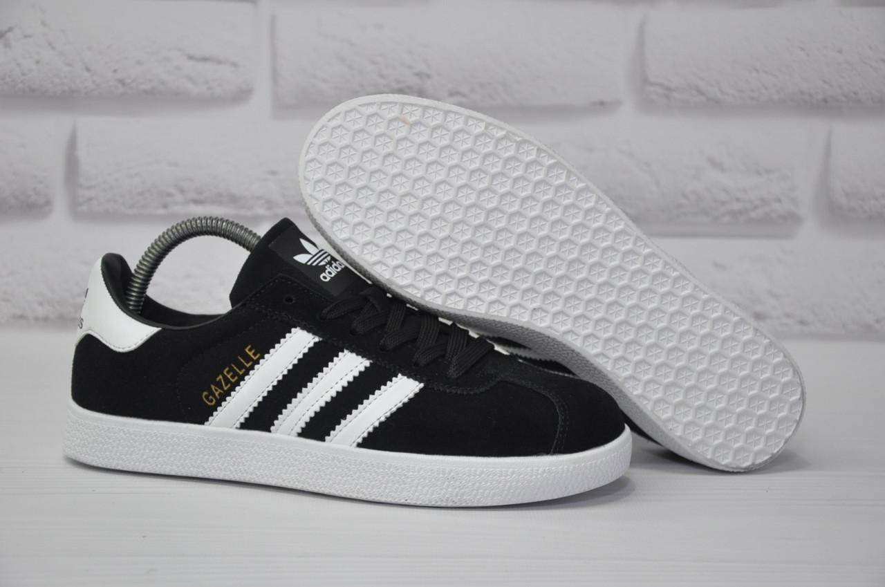 Черные замшевые кеды, криперы в стиле Adidas gazelle (размеры:39, 40)