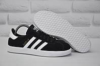 Черные замшевые кеды, криперы в стиле Adidas gazelle (размеры:39, 40), фото 1