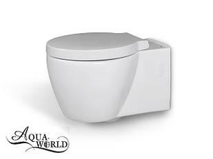Унитаз подвесной с сиденьем круглый Aqua-WorldСфКс.1349