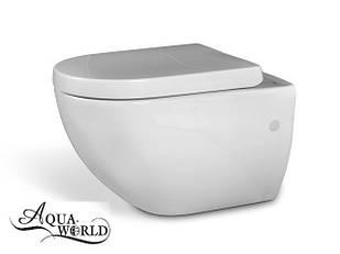 Унитаз подвесной с сиденьем Aqua-World СфСл.0225