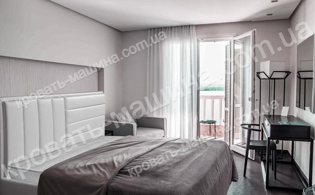 Кровать двуспальная SOFI с мягким изголовьем 1600х2000 купить киев