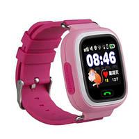 Smart годинник дитячі з GPS Q90, рожеві, фото 1