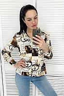 """Сорочка жіноча молодіжна GUCHI размеры42-46 (3ол)""""AFINA"""" купити недорого від прямого постачальника, фото 1"""