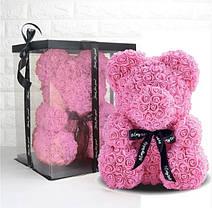 Подарок на 8 марта. Мишка из роз с конфетами, фото 2