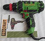Сетевой шуруповерт Procraft PB1150DFR (две скорости,съемный патрон), фото 3