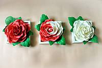 """Уникальный триптих из 3D картин """"Розы"""", из изолона, можно мыть красный и белый цвет"""