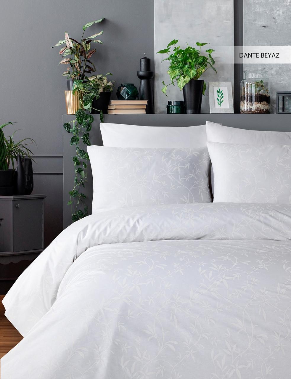 Постільна білизна Ecosse Ranforce 200х220 Dante-beyaz