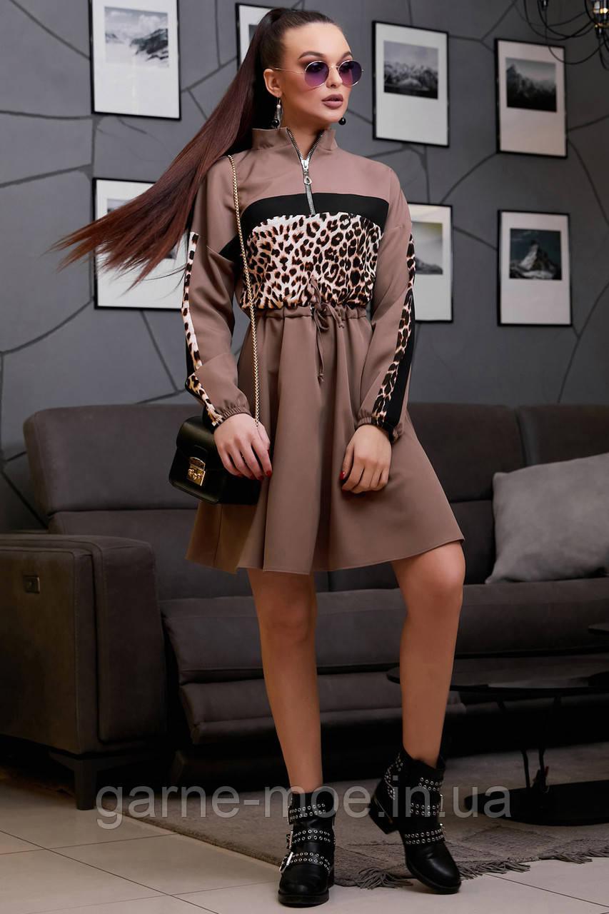 """1316/7 Молодежное стильное платье """"Лео"""""""