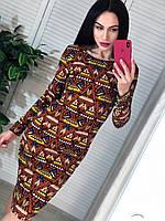 Платье с модными принтом мозаика, фото 1