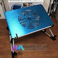 Подставка для ноутбука и мышки с кулером охлаждения раскладной столик трансформер  ET-703компьютерный стол