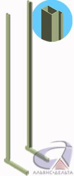 Стойки Н=2520мм для экономпанелей и экспопанелей