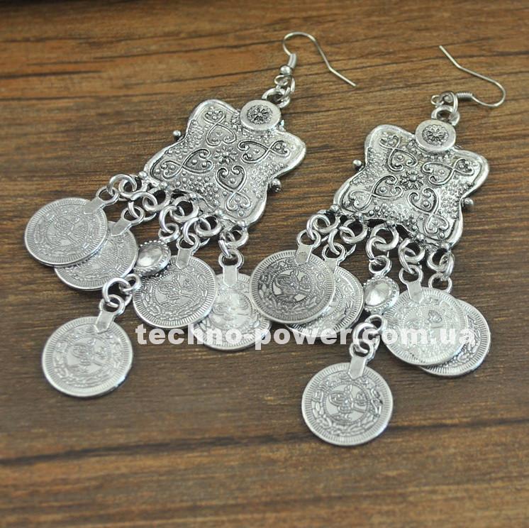 Серьги Восточные с монетами. Серьги для восточных танцев