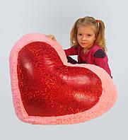 """Плюшевая игрушка Mister Medved Подушка-сердце со вставкой """"голограмма"""" 75 см"""