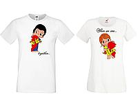 Парные футболки для влюбленных Push IT с принтом Love