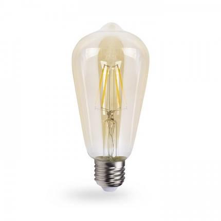Светодиодная лампа Feron LB-764 ST64 золото 4W E27 2700K EDISON, фото 2