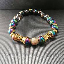 Браслет гематит райдужний Парний браслет з натуральних каменів для неї і його.