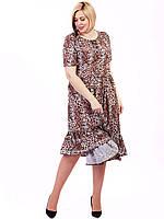 Vikamoda Платье size+ из легкой ткани с животным принтом 2700