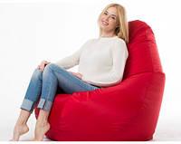 Кресло мешок пуфик груша красное XL 120х85 см