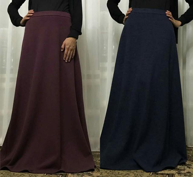 Длинная юбка макси трикотажная