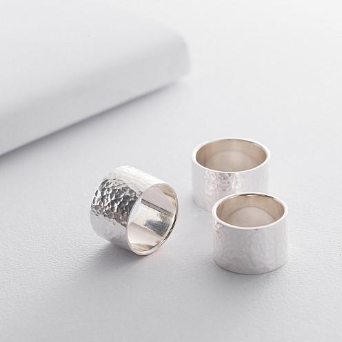 Кольцо из серебра текструрное