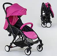 Детская прогулочная коляска W 8095 JOY Книжка цвет розовый