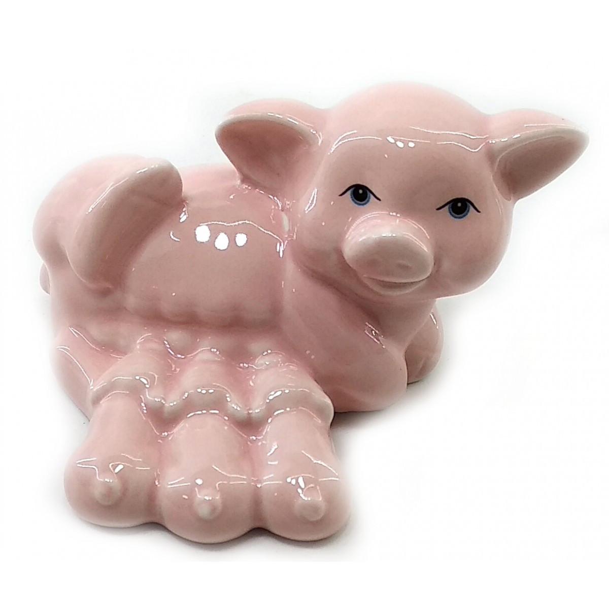 Свинка с поросятами фарфоровая розовая (8,5х6,5х5,5 см)