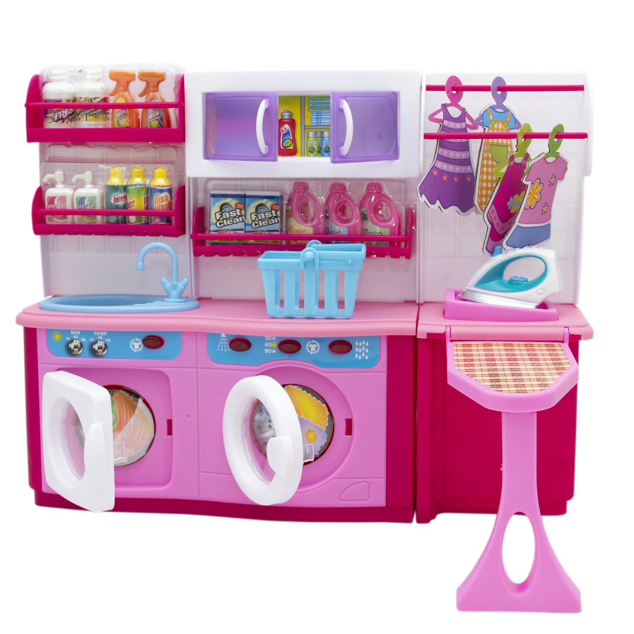 """Мебель для кукол прачечная """"Родной Дом"""" Барби, Брац, розовая, 37x11,5x28,5см (2802S)"""