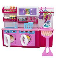 "Мебель для кукол стиральная комната ""Родной Дом"" Барби, Брац, розовая, 37x11,5x28,5см арт. 2802S"