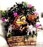Фонтан Слон подвесной декоративный Пейзаж деревья штучные подсветка МЕЛЬНИЦА 35=35=16 078