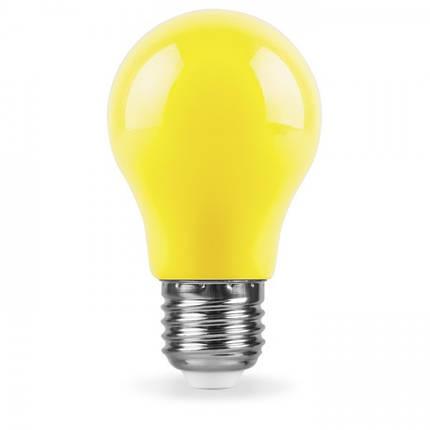 Светодиодная лампа Feron LB-375 3W E27 желтая, фото 2