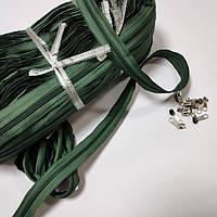 Молния рулонная, цвет: зеленый (мебельная застежка для чехла)