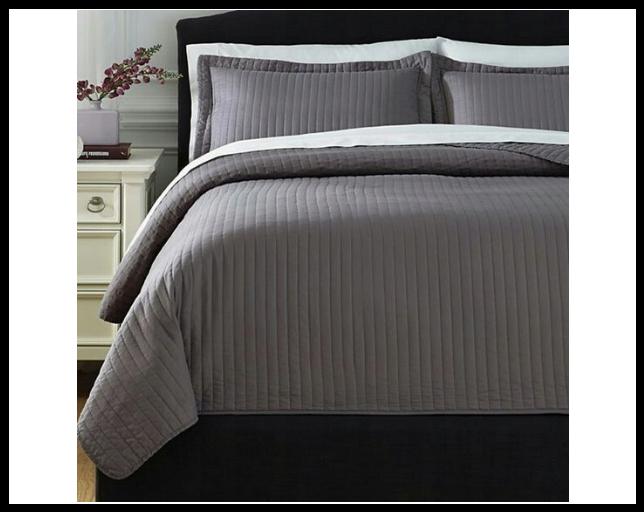 Декоративное покрывало на кровать,250x250 см, серый