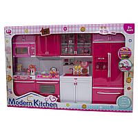 """Кукольная кухня """"Современная кухня"""", розовая, 54х9,5х36см арт. QF26211PW"""