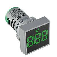 Вольтметр АСКО-УКРЕМ ED16-22 FVD зеленый 30-500В АС