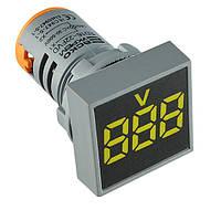 Вольтметр АСКО-УКРЕМ ED16-22 FVD желтый 30-500В АС